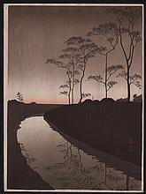 Original Japanese Woodblock print by Koho