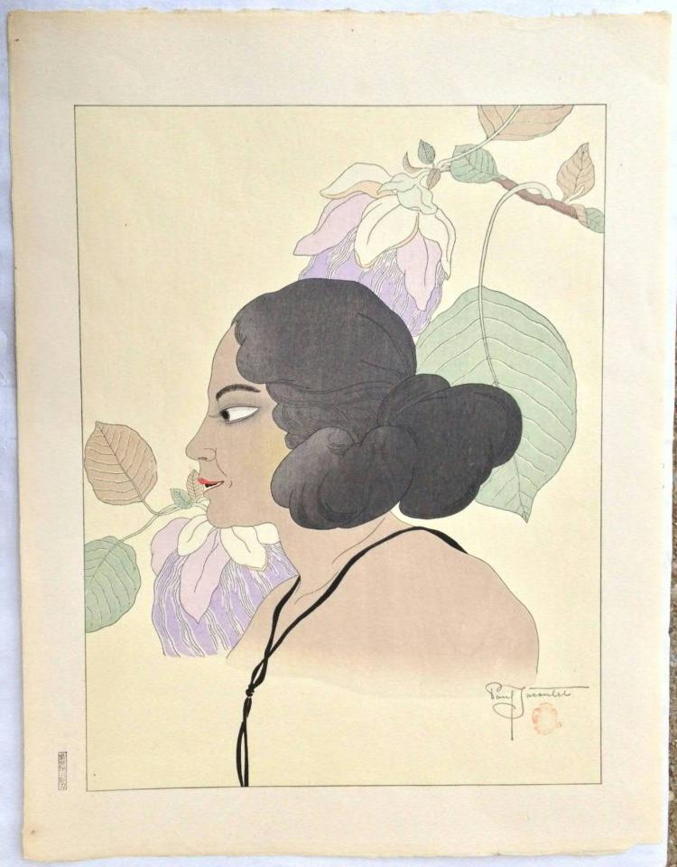 Original Japanese Woodblock Print by Paul Jacoulet