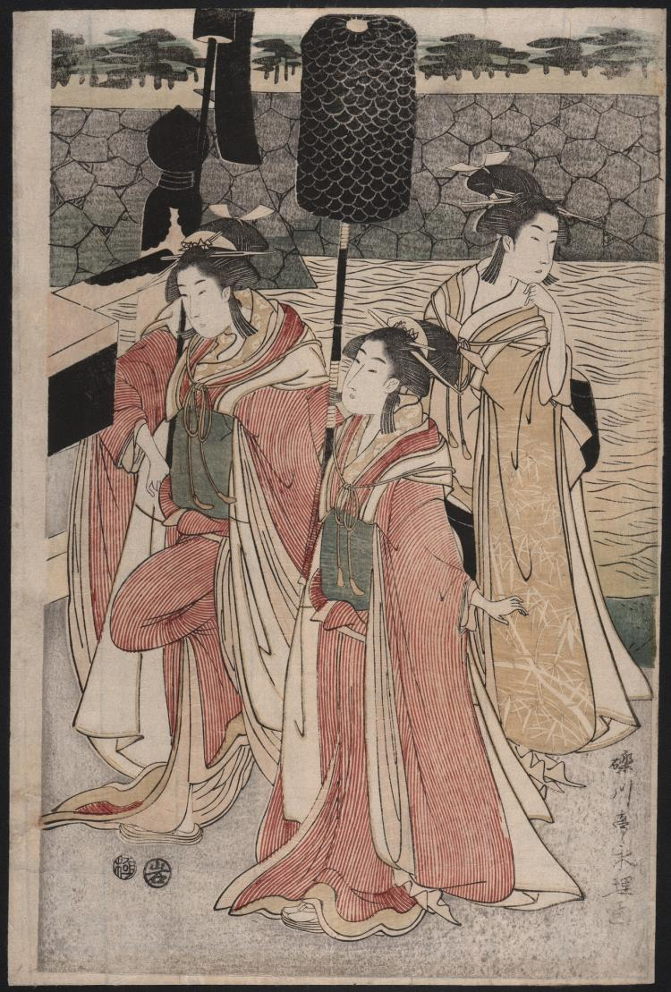 Original Japanese Woodblock Print by Eiri