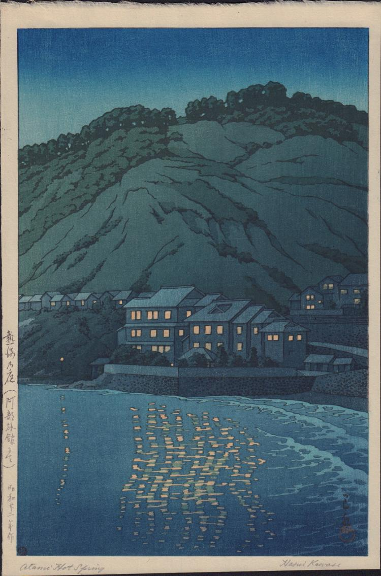 Original Japanese Woodblock Print by Hasui