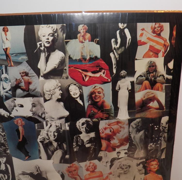 marilyn monroe collage style poster printed in italy