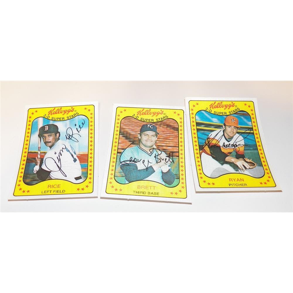 Complete Set Of 66 1981 Kelloggs 3 D Super Stars Baseball