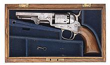 A CASED .31 CALIBRE COLT LONDIN MODEL 1849 POCKET REVOLVER, LONDON PROOF MA