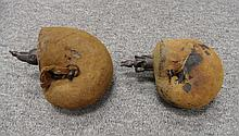 TWO INDIAN POWDER-FLASKS, 19TH CENTURY of slightly differing size, each of