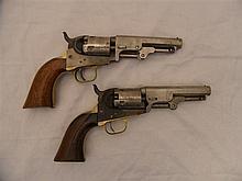 TWO .36 CALIBRE COLT MODEL 1849 POCKET REVOLVERS, NOS 19051 FOR 1851 AND 83