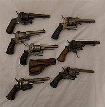 SIX PIN-FIRE DOUBLE-ACTION REVOLVERS, LIÈGE PROOF, LATE 19TH CENTEURY the f