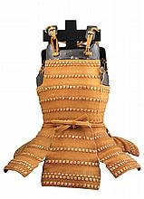 **A JAPANESE CUIRASS (DÕ) OF HARAMAKI TYPE IN 15TH CENTURY STYLE