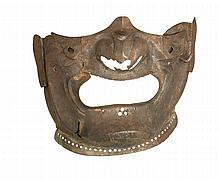 **TWO JAPANESE FACEGUARDS (MEMPO), EDO PERIOD