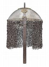 **AN OTTOMAN HELMET, 19TH CENTURY, PROBABLY SUDAN