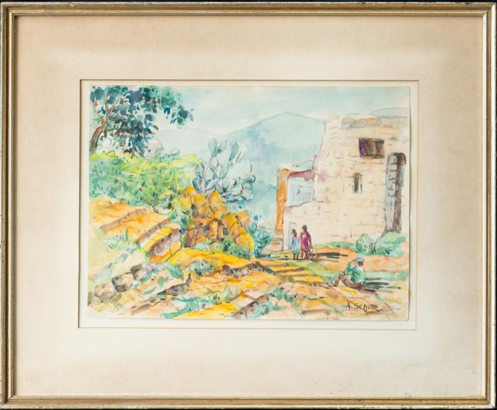 Alice Schille (1869-1955) Ohio/NM Artist Watercolor