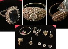 Estate Rings and Earrings