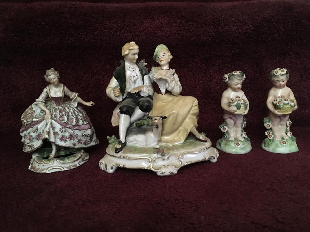 Royal Vienna and Dresden Porcelain Figurines