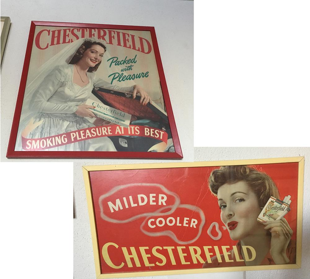 2 Chesterfield Advertising Signs