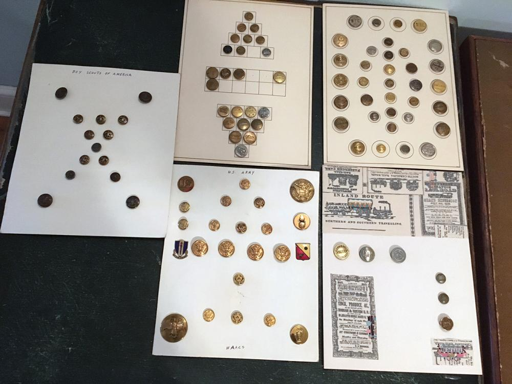 5 Cards of Brass Buttons