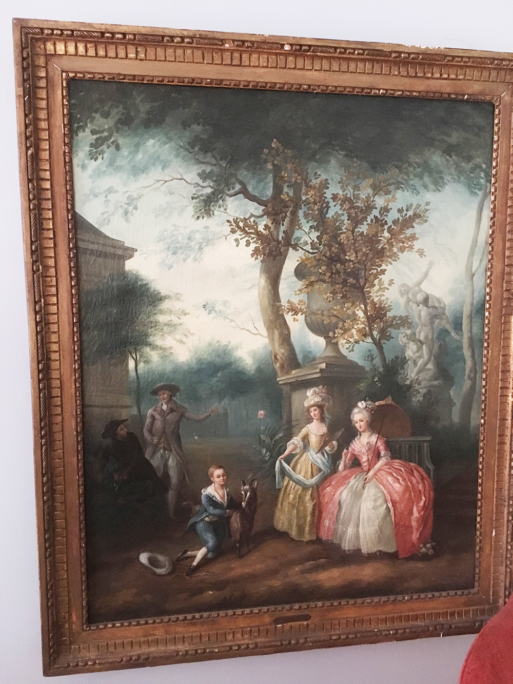 19th Century Moreau Oil Painting
