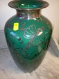 Large Vase with Silver Overlay.