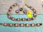 Very heavy sterling silver vintage necklace set with pink stones.