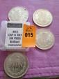Four Silver Mexican Cap & Ray Un Peso, Brilliant Uncirculated