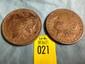2 US Morgan Silver Dollars 1885 and 1921
