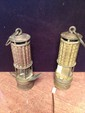 Pair of Early Brass Mining Lamps