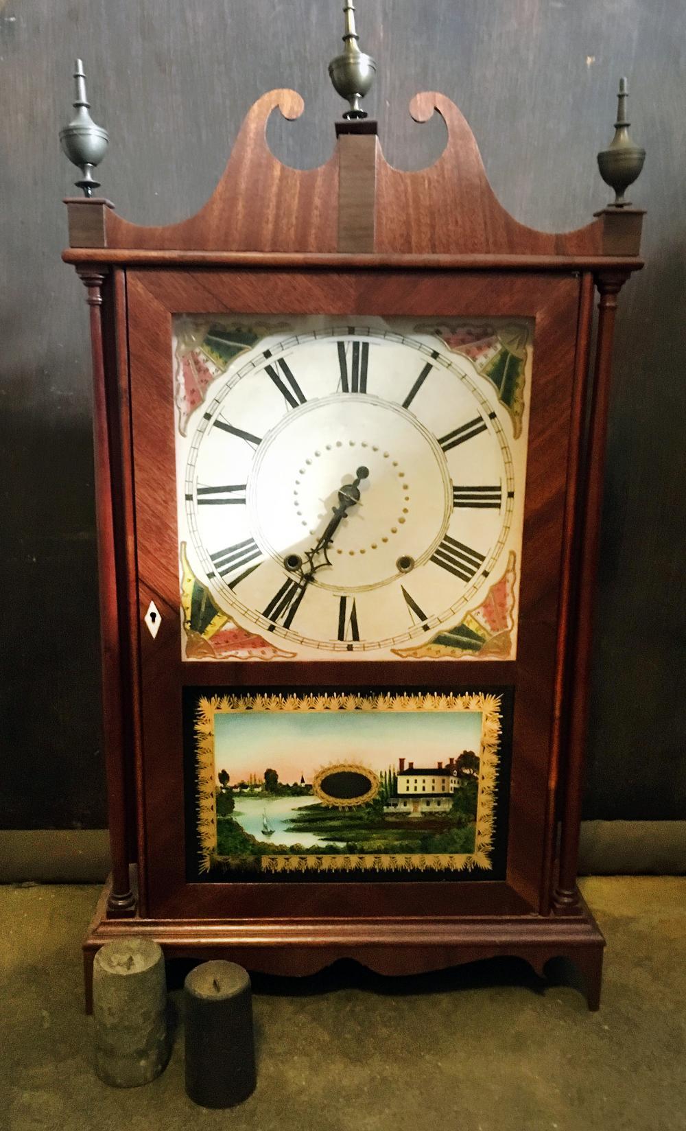 Eli Terry Jr. Pillar and Scroll Clock