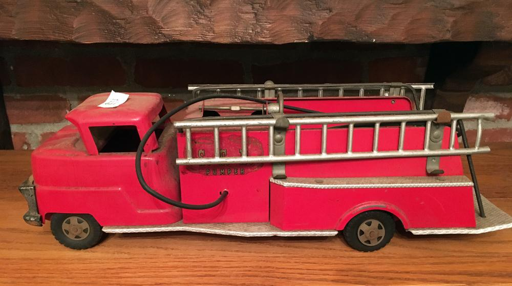 Structo Vintage Toy Fire Truck