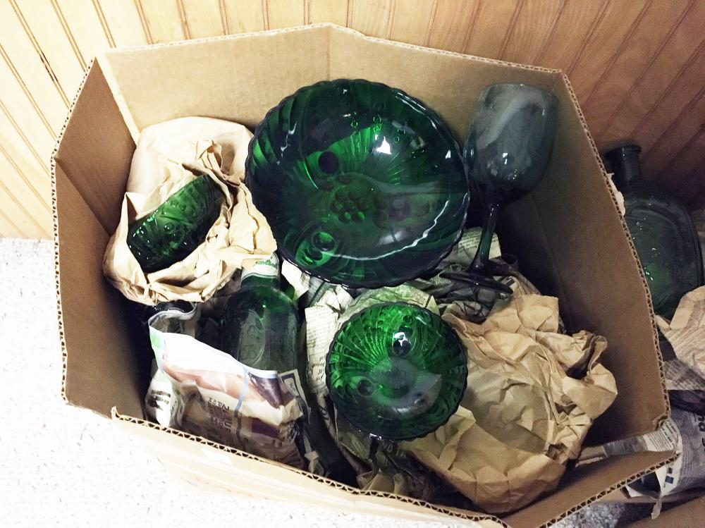 Emerald Green Glass Discovery Lot