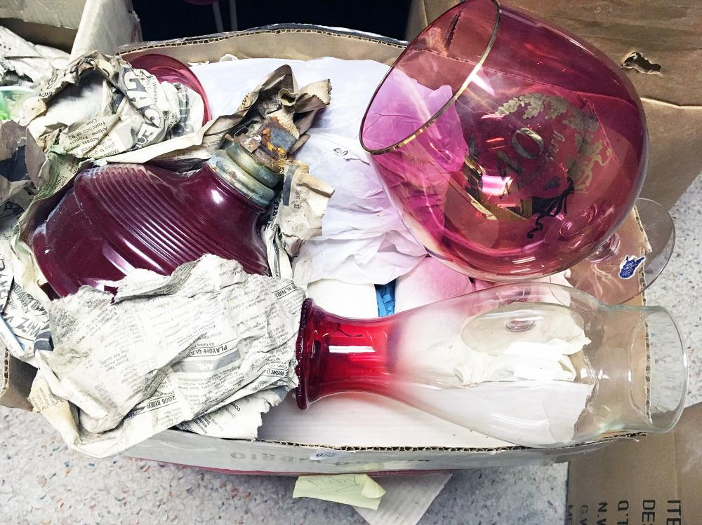 Ruby Glass Discovery Lot