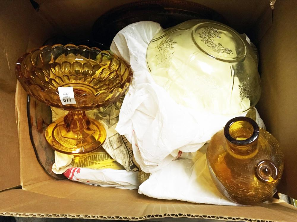 Amber Depression and Crackle Glass Discovery Lot