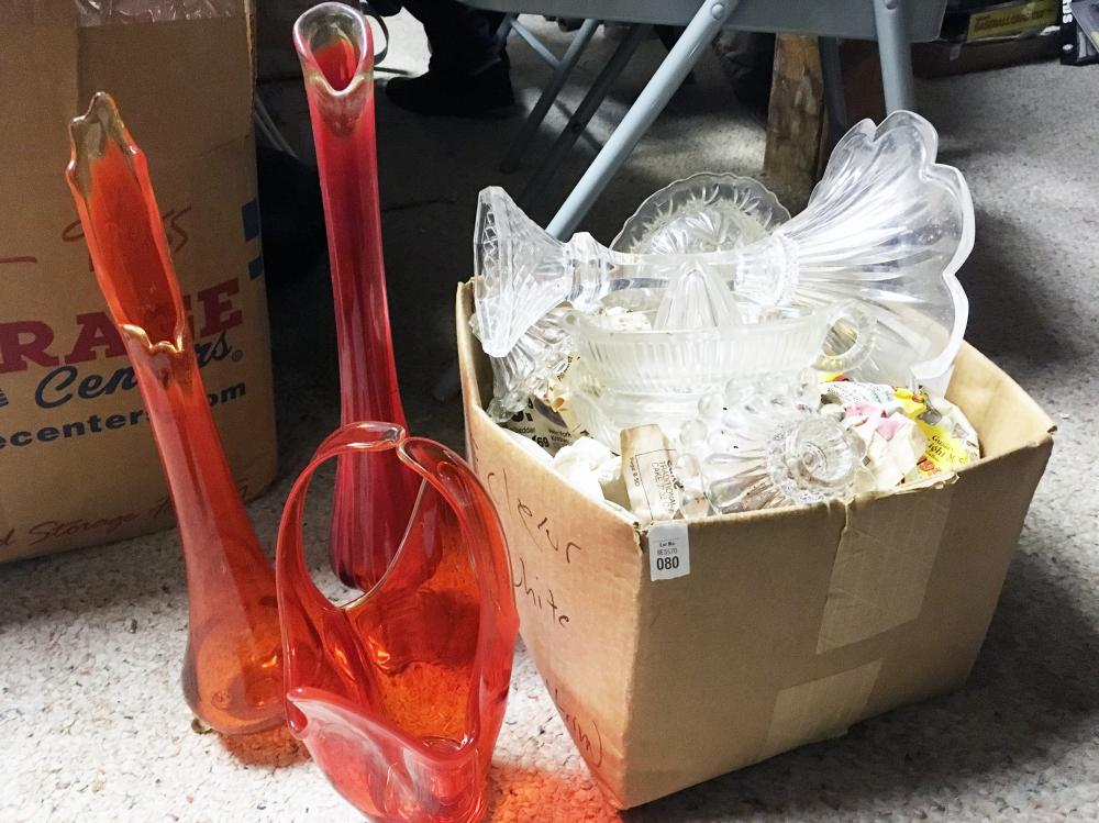 Orange Flash and Clear Glass Discovery Lot