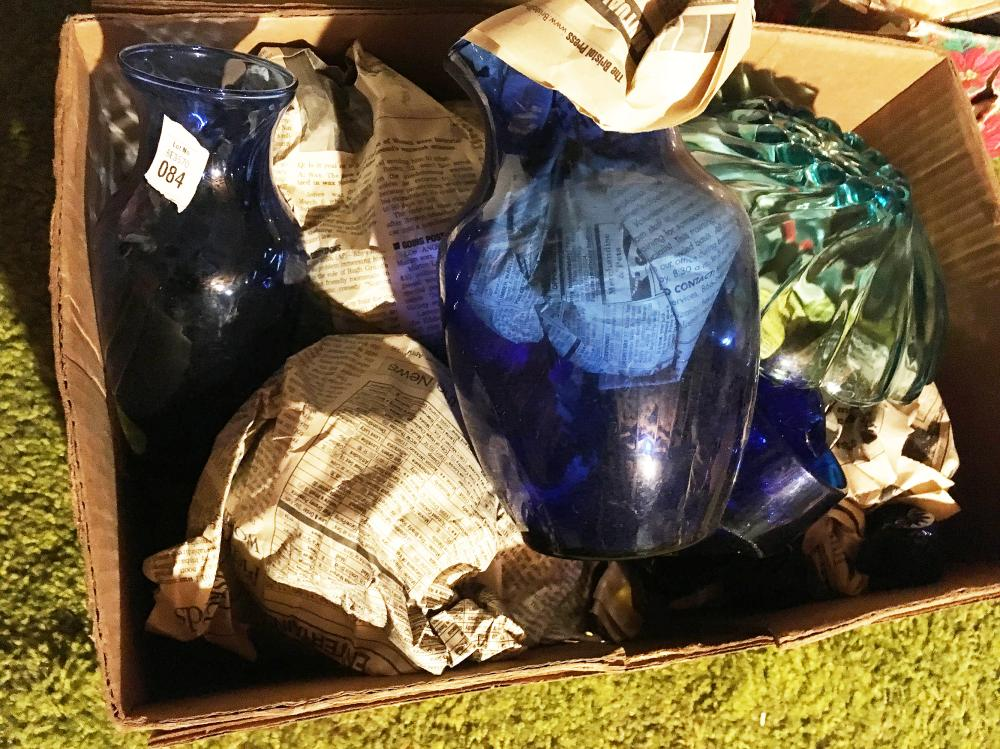 Cobalt and Blue Glass Discovery Lot