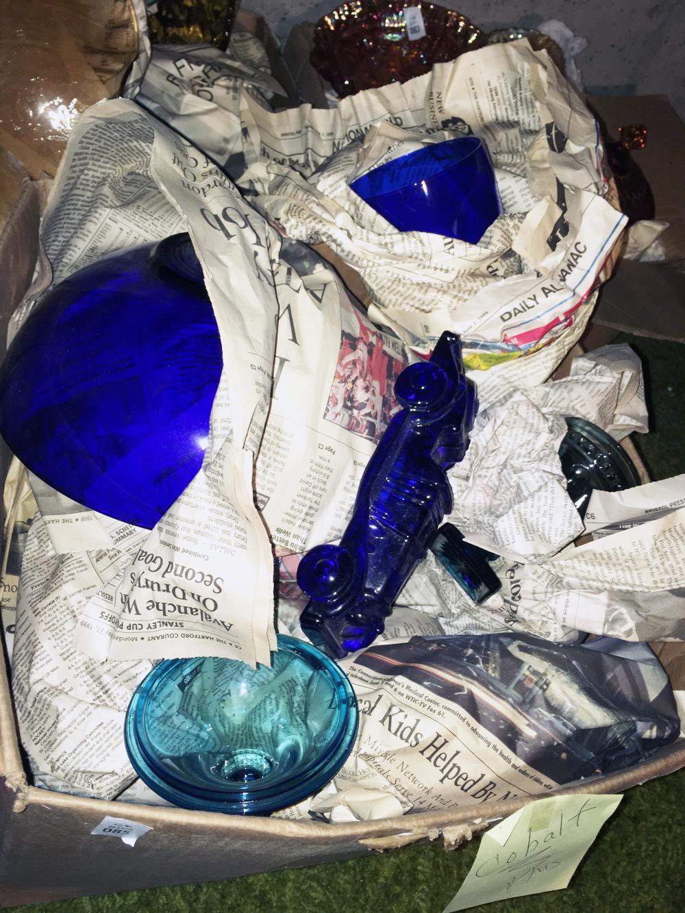 Cobalt Blue Glass Discovery Lot