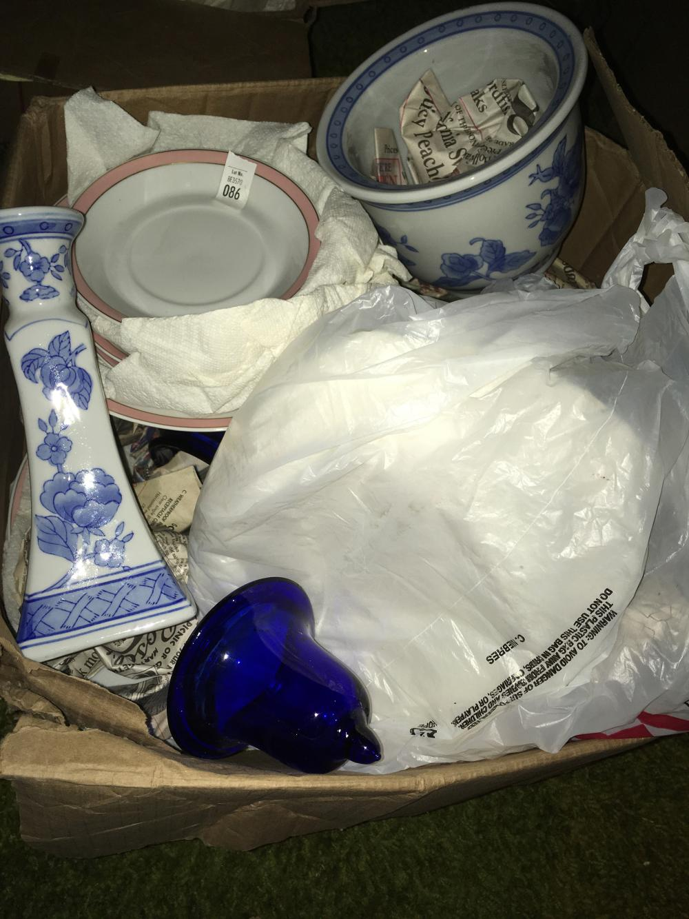 China and Cobalt Blue Glass Discovery Lot