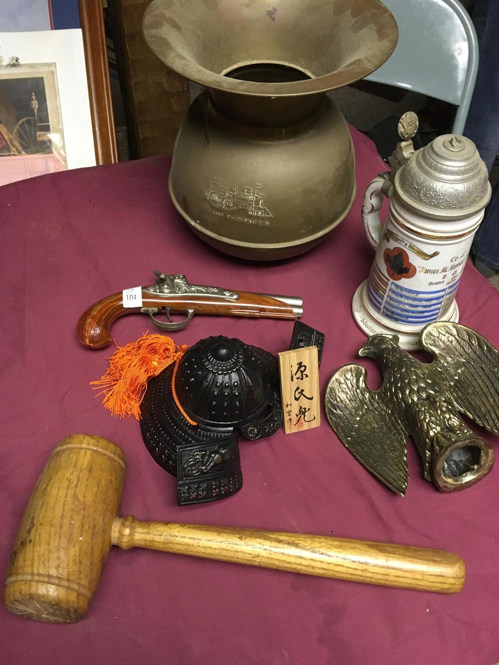 Vintage Cap Gun, Spittoon, Etc.
