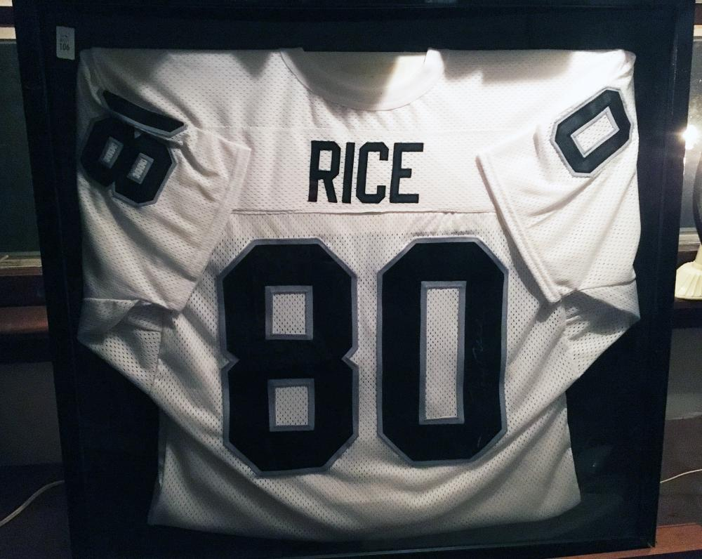 Jerry Rice Autographed Football Jersey