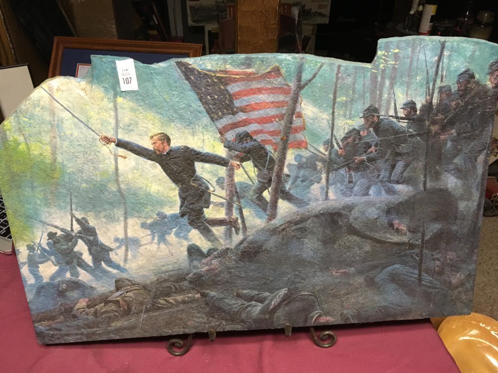 Civil War Painting on Slate