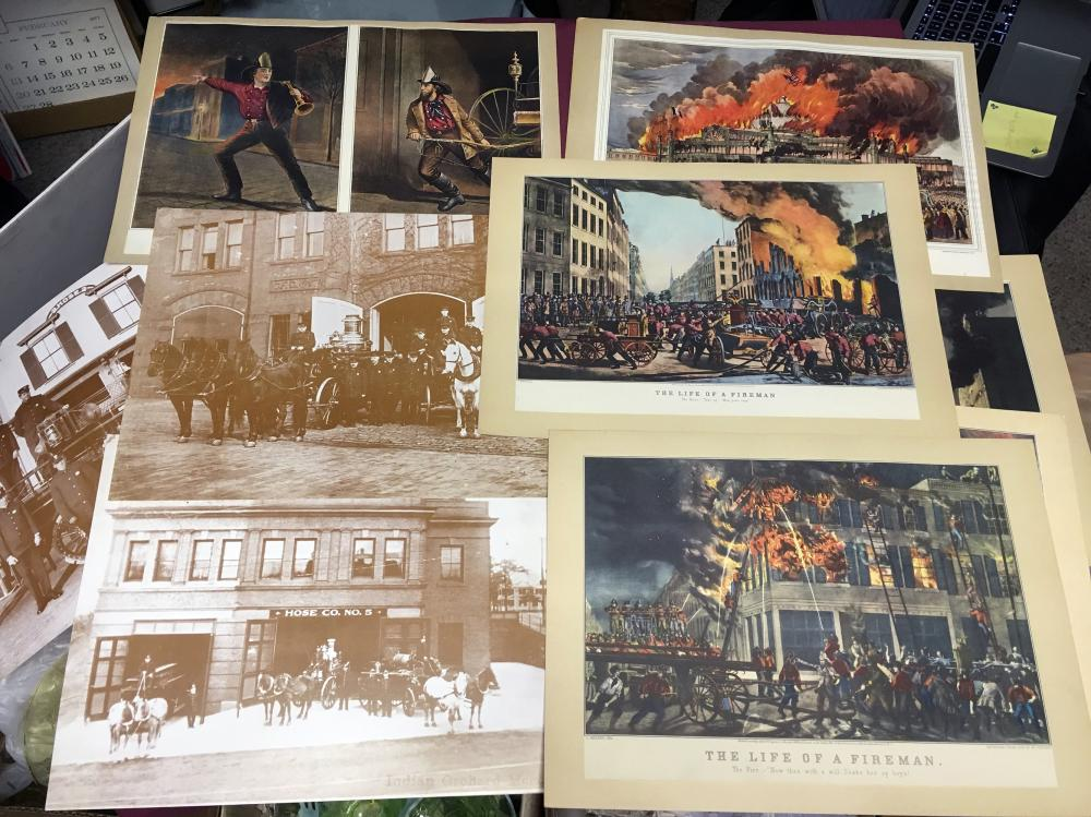 Currior and Ives Fireman Collection