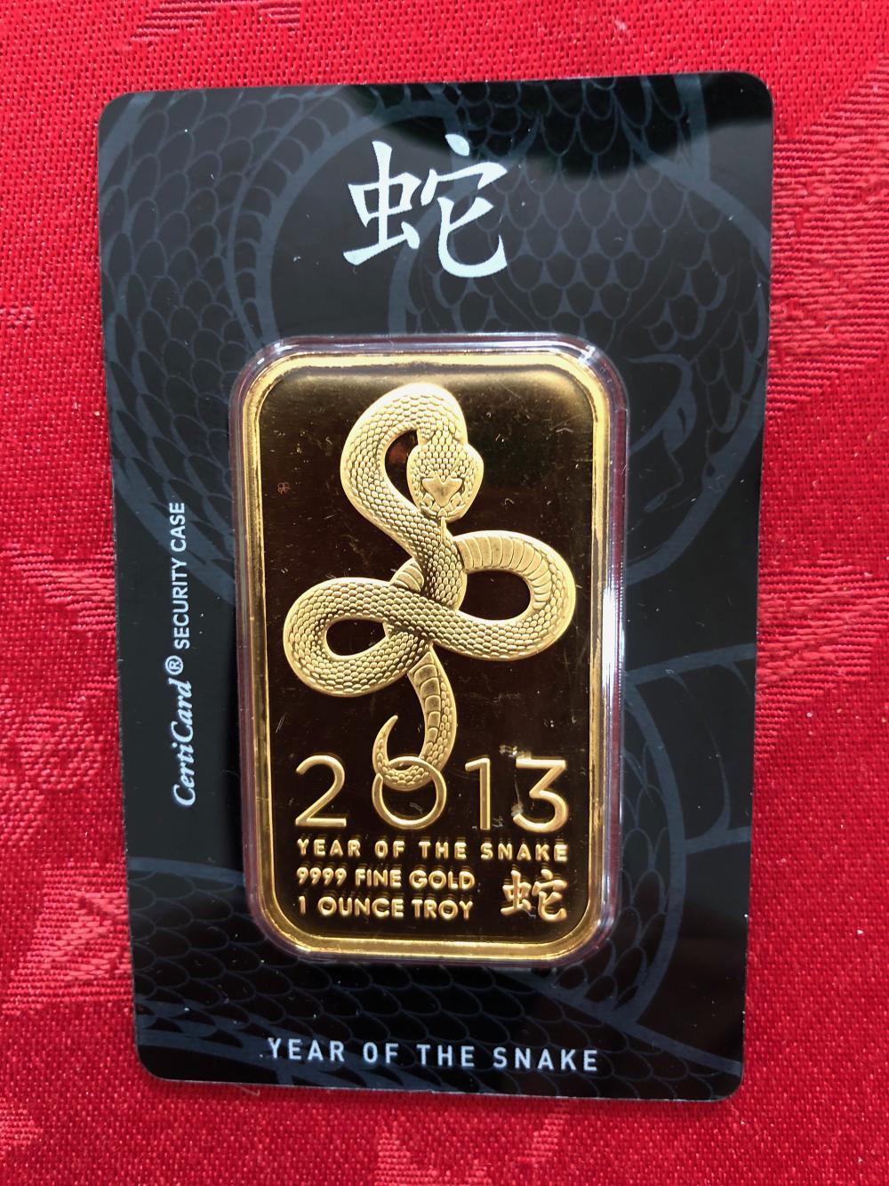1 Oz. Gold Bar