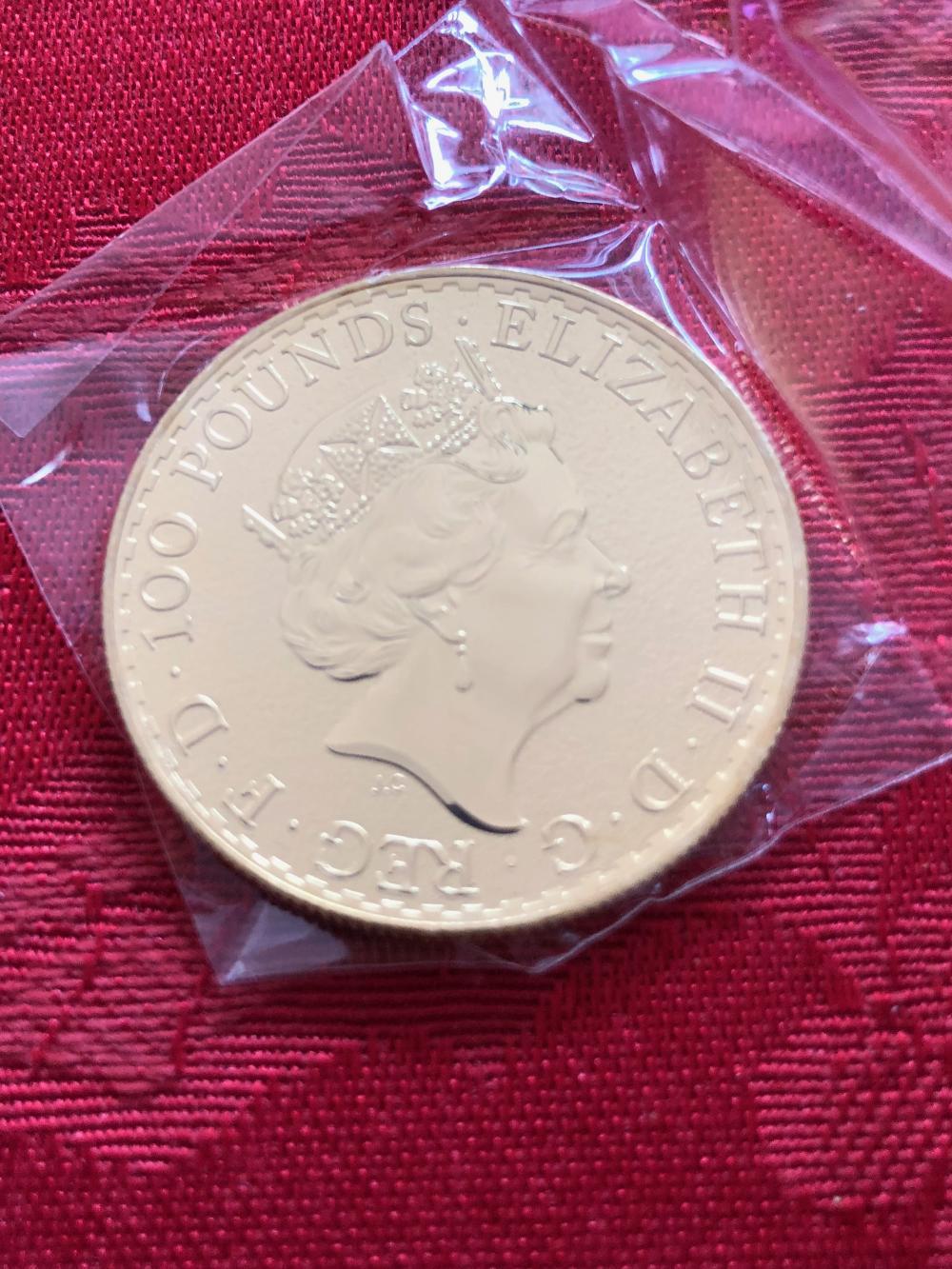 2016 1 Oz. Gold 100 Pounds Coin