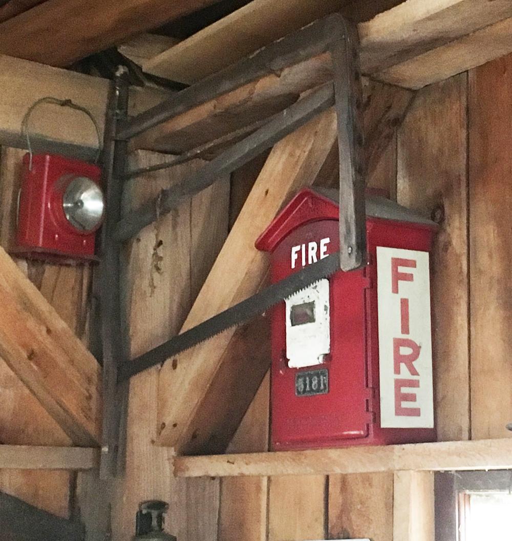 Vintage Fire Alarm and Lantern