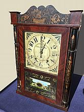 Silas Hoadley Column and Splat Shelf Clock