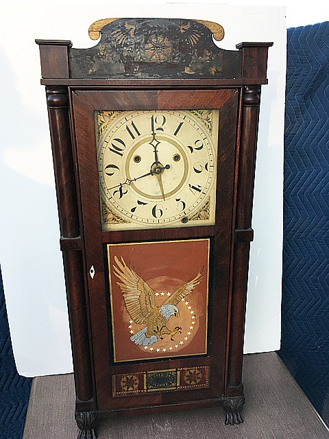 Silas Hoadley Tall Mantel Upside Down Clock