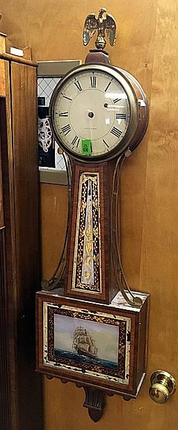 Waltham Weight Driven Banjo Clock