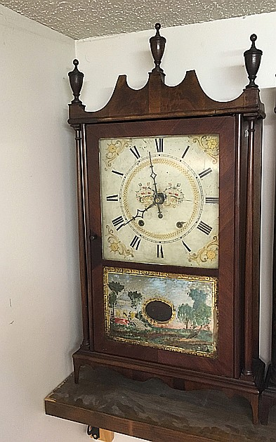 Eli Terry and Sons Pillar and Scroll Shelf Clock