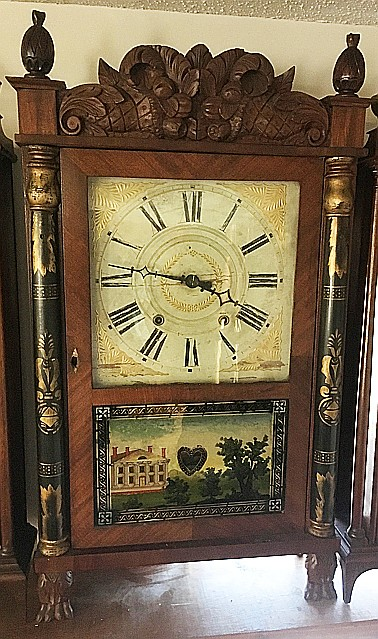Mitchell and Atkins Column and Splat Shelf Clock