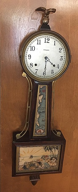 E. Ingraham Treasure Island Banjo Clock