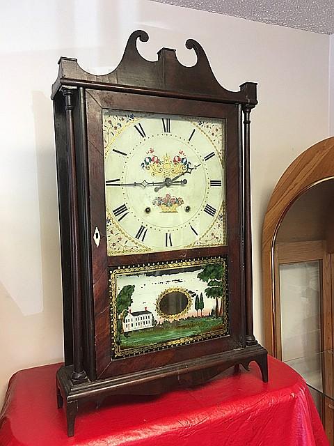 Eli and Samuel Terry Pillar and Scroll Shelf Clock