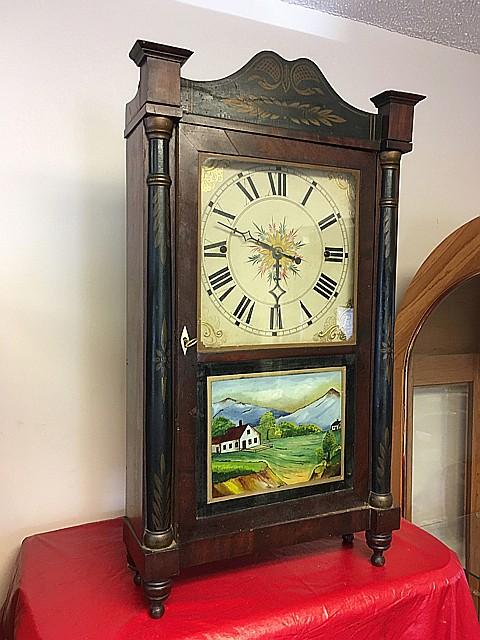 Norris North Column and Splat Mantel Clock