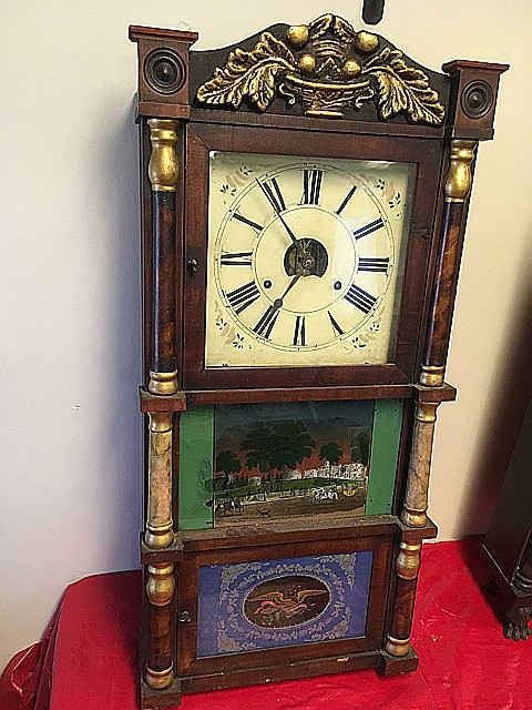 Birge, Peck & Co. Double Decker Shelf Clock