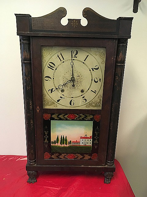Eli Terry & Son Column and Splat Shelf Clock